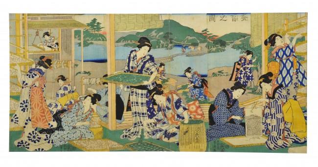 蚕育之図 五雲亭貞秀画 慶応3(1867)年